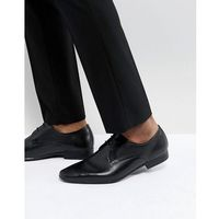 Pier One Leather Embossed Derby Shoes In Black - Black