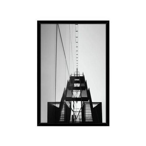 Obraz schody metalowe 70 x 100 cm marki Consalnet