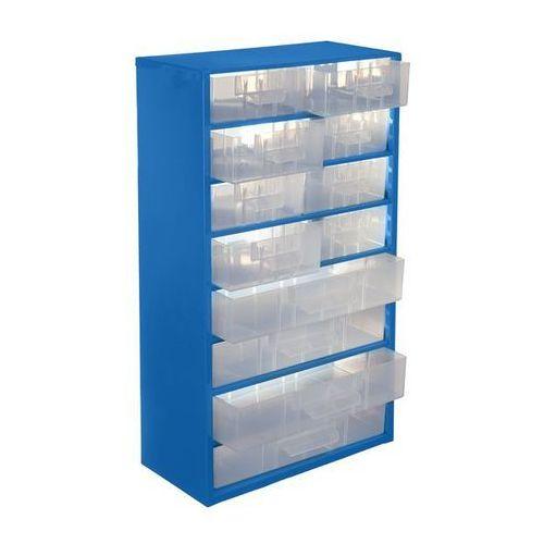 Magazyn z szufladami, wys. x szer. x głęb. 551x306x155 mm, 12 szuflad polipropyl
