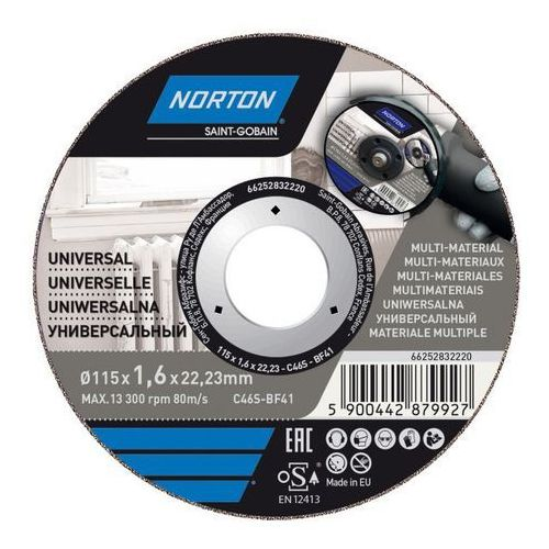 Norton Tarcza korundowa do cięcia multifunkcyjna 41-115 x 1 6 x 22 2 mm