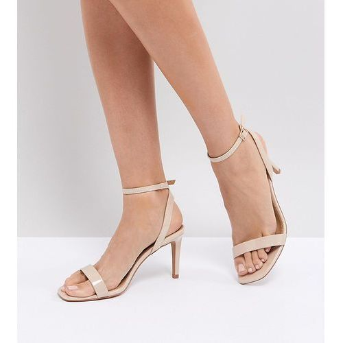 Asos half time barely there heeled sandals - beige