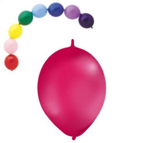 Twojestroje.pl Balon lateksowy pastel fuksja z łącznikiem 27 cm 1 szt. (7501060419328)
