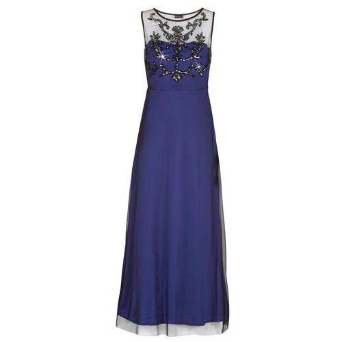 Bonprix Sukienka wieczorowa niebiesko-czarny