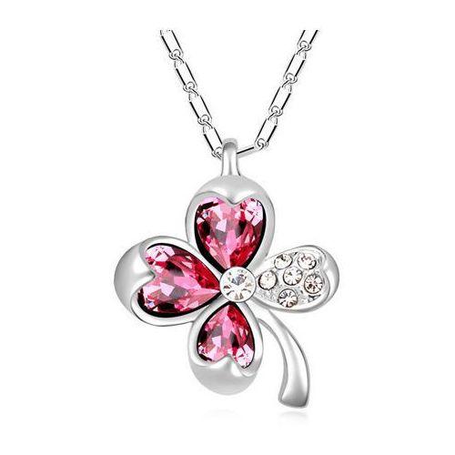 EXCLUSIVE Naszyjnik kwiat różowy - różowy, kolor różowy