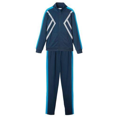 Dres sportowy dziecięcy (2 części) bonprix ciemnoniebiesko-niebieski oceaniczny, kolor niebieski