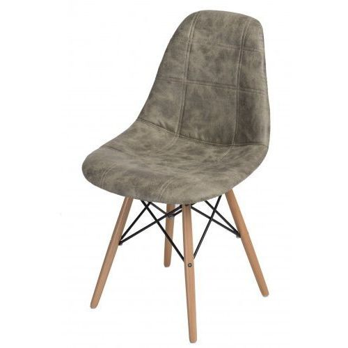 D2design Krzesło p016w pico jasne drewniane nogi (szare) d2