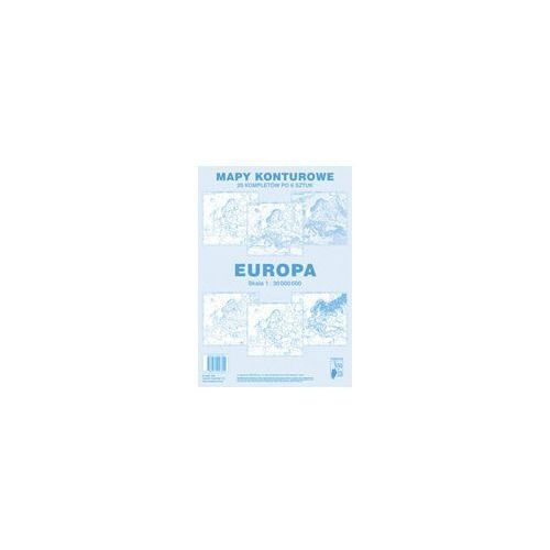 Mapa konturowa Europa (9788374093309)