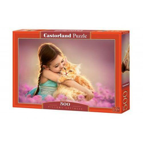 500 elementów dziewczynka z kotkiem, marki Castor