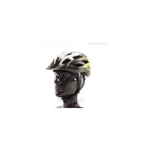Kask rowerowy AXER LIBERTY GREEN/WHITE z daszkiem, 230075534