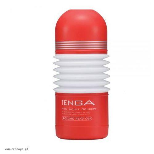Tenga Onacup Rolling Head Red Masturbator imitujący seks w pozycji na jeźdźca czerwony
