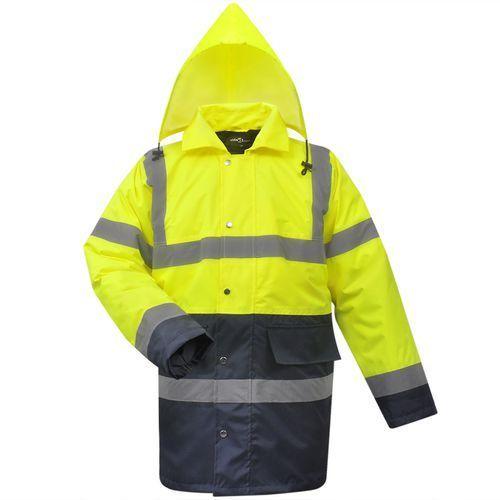vidaXL Męska kurtka odblaskowa żółto niebieska poliestrowa rozm. M