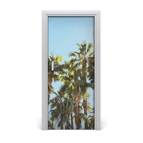 Tulup.pl Naklejka na drzwi samoprzylepna krajobrazy palmy