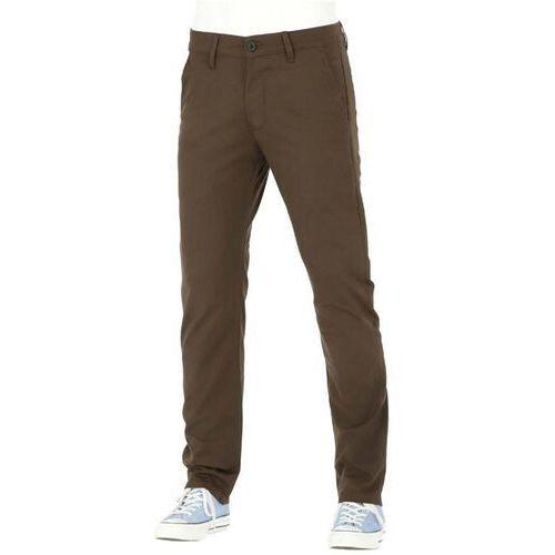 Spodnie - straight flex chino pc dark brown (151) rozmiar: 34/34 marki Reell