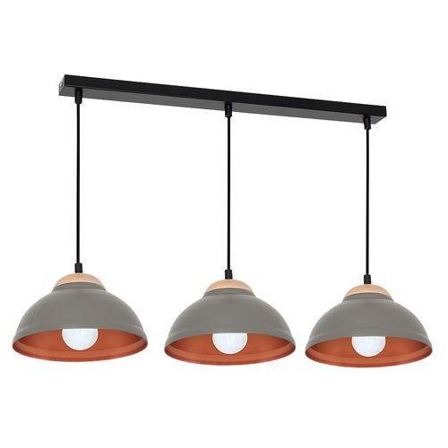 Lampa wisząca Luminex Arne 7400 lampa sufitowa 3x60W E27 czarny / szary / miedziany, 7400