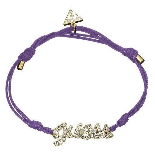 Guess bransoletka bawełna violet ubb21206