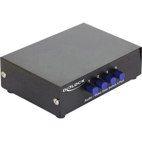 Delock Przełącznik, switch  87637, 4 porty, dwukierunkowy, metalowa obudowa (4043619876372)