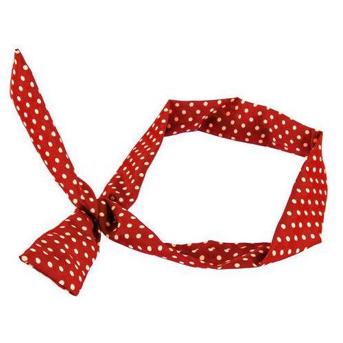 Cloe Opaska na topie pin up bordowa kropki beżowe - bordowa