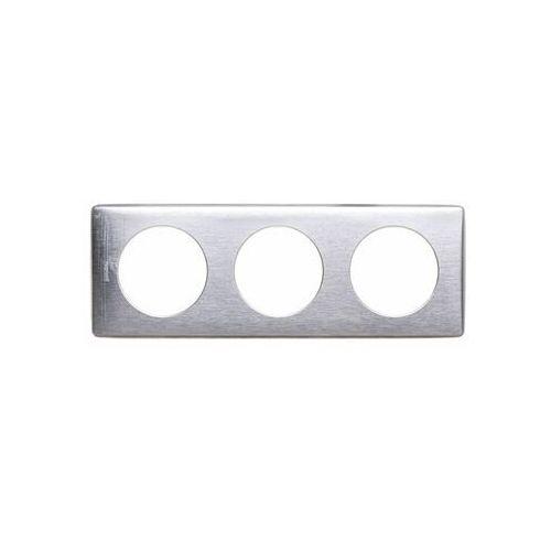 Legrand Ramka potrójna celiane 068923 aluminium (3245060689230)
