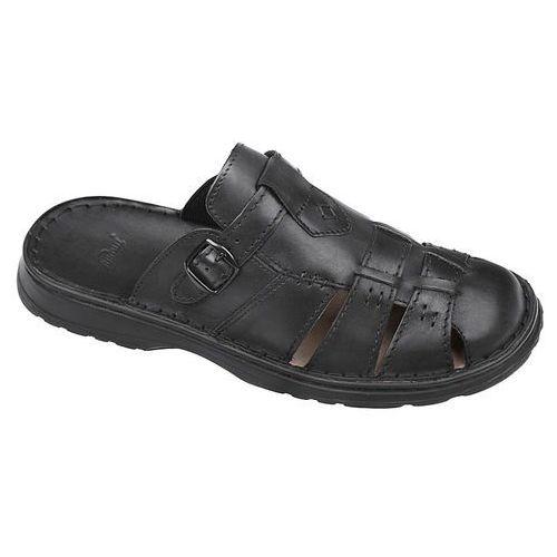 Klapki buty 962 czarne - czarny marki Łukbut
