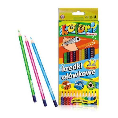 Kredki penmate kolori trójkątne 12 kol x1 marki Kredki ołówkowe