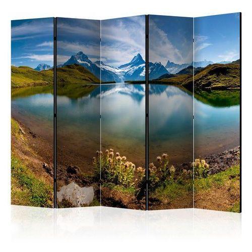 Parawan 5-częściowy - góry odbijające się w tafli jeziora, szwajcaria [room dividers] marki Artgeist
