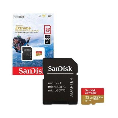 Sandisk Karta pamięci extreme microsdhc 32gb