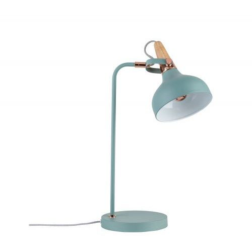 Turkusowa lampa stołowa juna z pięknymi detalami marki Paulmann