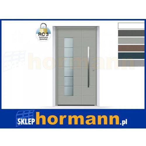 Drzwi aluminiowe ThermoSafe 2018, Wzór 867, kolor do wyboru, przeciwwłamaniowe RC 3