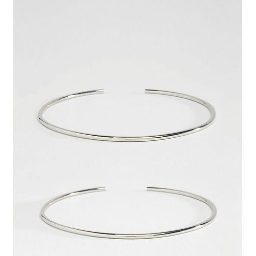 Asos curve pack of 2 fine arm cuffs - silver