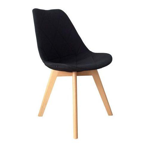 Krzesło tapicerowane Karo Wood black, QS-D630-14-33