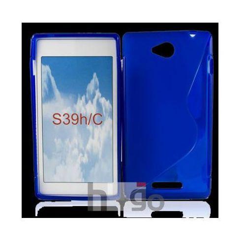 Futerał Back Case S-Line Sony Xperia C c2305 NIEBIESKI, backcase sony c
