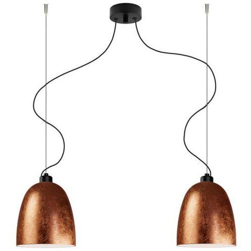 LAMPA wisząca AWA 2/S/COPPER/OPAL Sotto Luce szklana OPRAWA zwieszana miedziana, kolor Miedziany