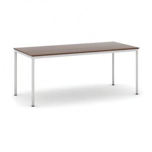Stół do jadalni 1800 x 800 mm, blat orzech, nogi jasnoszare