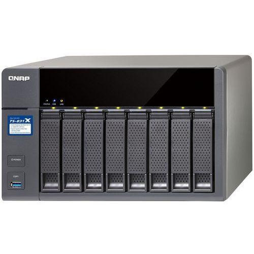 QNAP TS-831X-4G - Cortex-A15 / 4 GB / 2+2 x Gigabit + 10 Gigabit LAN / 8-dyskowy, TS-831X-4G