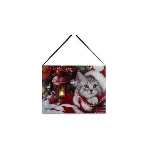 Obraz na płótnie LED Kitten, 20 x 15 cm (8591957881269)