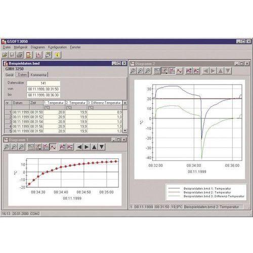 Oprogramowanie pomiarowe Gresinger GSOFT 3050, do GMH 3150, GMH 3830, GMH 3850 (4016138030198)