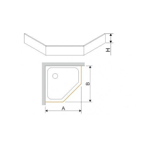 Sanplast Obudowa do brodzika pieciokątnego OBPK 90x90x12,5 90x90x12,5cm
