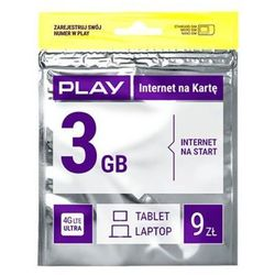 Starter PLAY Internet na Kartę 3GB 9 PLN