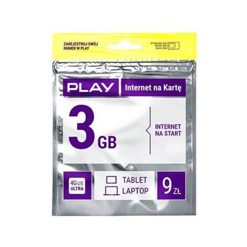Starter PLAY Internet na Kartę 3GB 9 PLN, towar z kategorii: Zestawy startowe i doładowania