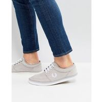 stratford micro fibre trainers in grey - grey, Fred perry