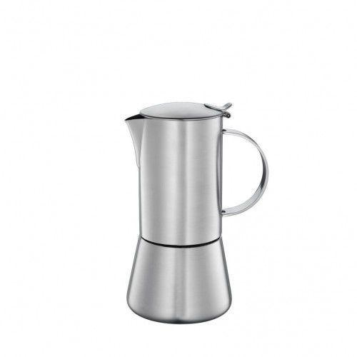Cilio Aida kawiarka stalowa, 6 filiżanek, satynowa