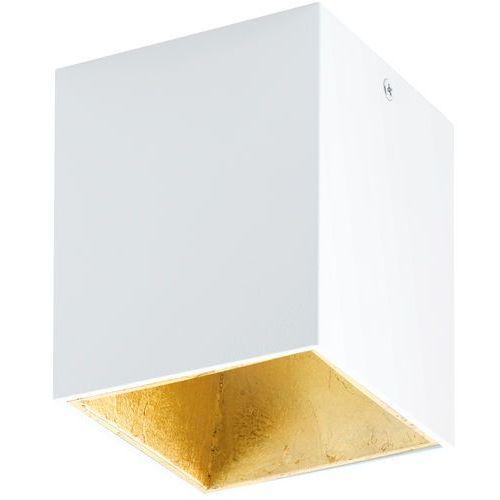 Plafon Eglo Polasso 94498 lampa oprawa sufitowa spot 1x 3,3W biały/złoty LED (9002759944988)