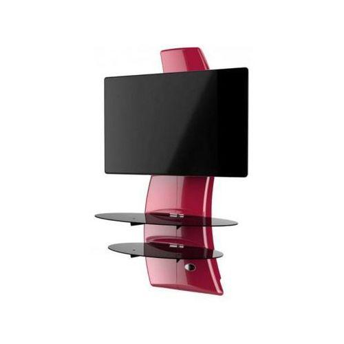 Półka pod TV z maskownicą GHOST DESIGN 2000 ROTATION VESA czerwony