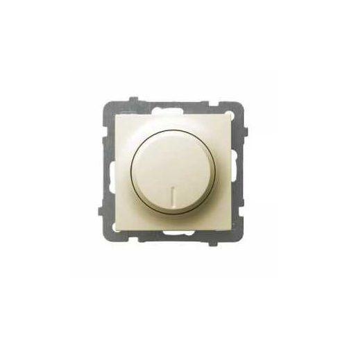 OKAZJA - Ściemniacz uniwersalny as łp-8gl2/m/27 do led, obciążenia żarowego i halogenowego ecru marki Ospel