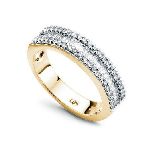 Staviori Złoty pierścionek pzd1182 - diament