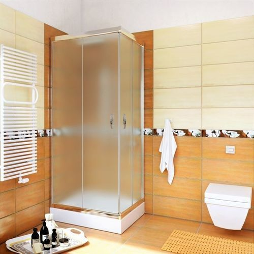 Zestaw kabina kwadratowa 70x70 szkło mleczne marki Metal-hurt
