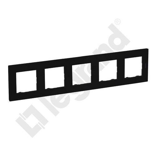 Legrand Ramka pięciokrotna niloe step 863595 86 x 370 mm czarny (3414971843509)