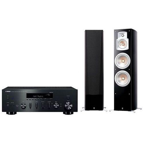 Zestaw stereo r-n602 + ns-777 czarny + darmowy transport! marki Yamaha