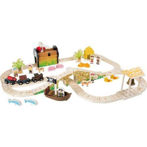 Wielopoziomowa kolejka drewniana dla dzieci wyspa piratów marki Small foot design