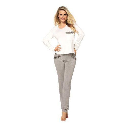 malwina ecru-szara piżama damska marki Dkaren